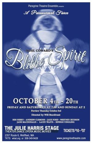 Peregrine Theatre Ensemble to Open BLITHE SPIRIT 10/4