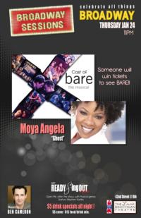 Cast of BARE and Moya Angela Set for BROADWAY SESSIONS Tonight