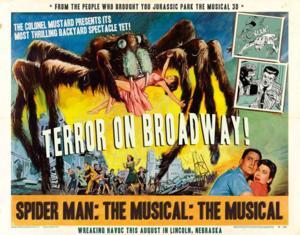 Spider-Man Weblasts' To Lincoln in SPIDER-MAN: TURN OFF THE DARK Parody