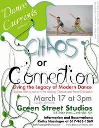 Dance Currents, Inc. to Present CHAOS OR CONNECTION at Green Street Studios, 3/17