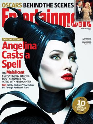 First Look - Angelina Jolie as MALEFICENT Graces Cover of EW!