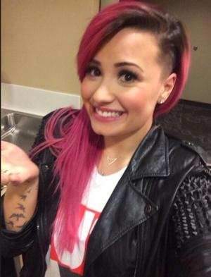 Demi Lovato Reveals New Half-Shaven Hairdo on Twitter!