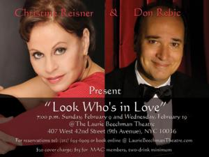 Don Rebic and Christine Reisner-Rebic to Debut LOOK WHO'S IN LOVE at the Laurie Beechman, 2/9 & 19