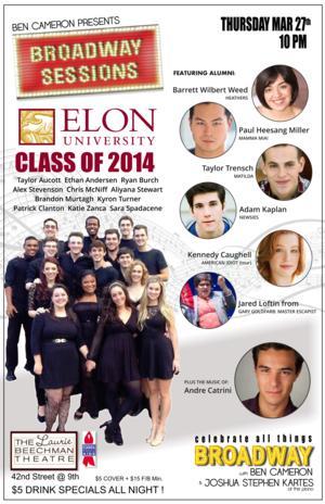 BROADWAY SESSIONS to Celebrate Elon University, 3/27