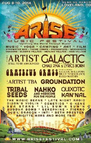 ARISE Music Festival Announces First Wave Lineup 2014