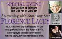 Good Theater Kicks Off 11th Season with Florence Lacey, 10/6 & 7