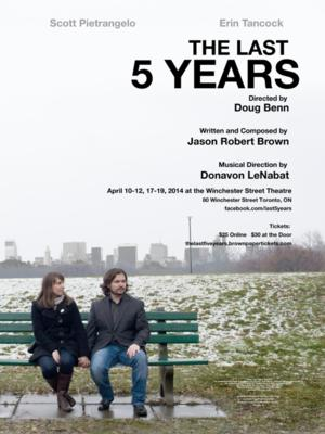 THE LAST FIVE YEARS Runs 4/10-19 at Winchester Street Theatre