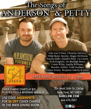 Lisa O'Hare, Nick Cosgrove, Coleen Sexton and More Set for THE SONGS OF ANDERSON & PETTY at 54 Below This Weekend