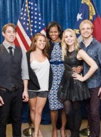 Delta Rae Opens for Michelle Obama at UNC Chapel Hill