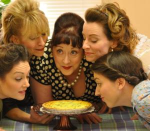 5 Lesbians Eating a Quiche Set for Trustus Side Door Theatre Opener