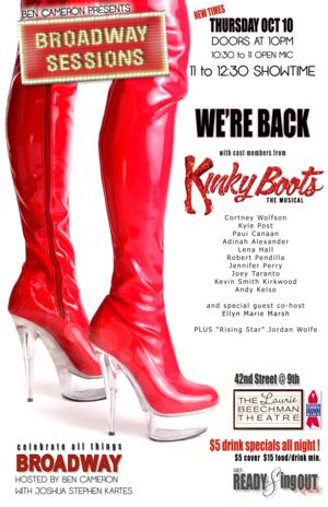 Cast of KINKY BOOTS Set for this Week's Broadway Sessions, 10/10
