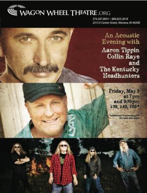 Aaron Tippin, Collin Raye & Kentucky Headhunters to Play Wagon Wheel Theatre, 5/9