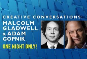 Malcolm Gladwell and Adam Gopnik Speak at Long Wharf Theatre Tonight