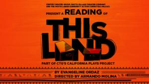 CTG to Present Special Event Reading of Evangeline Ordaz's THIS LAND, 2/28