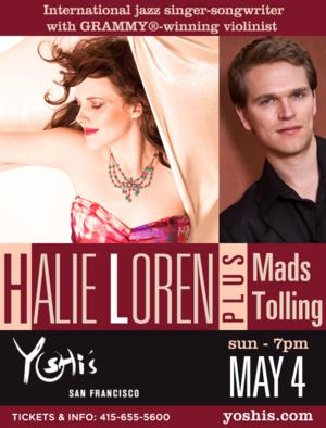 Halie Loren to Perform at Yoshi's, Featuring Mads Tolling, 5/4