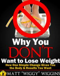 Matt Wiggins' WHY DON'T YOU WANT TO LOSE WEIGHT Now Available on Amazon