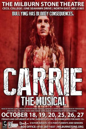 CARRIE THE MUSICAL to Open 10/18 at Milburn Stone Theatre