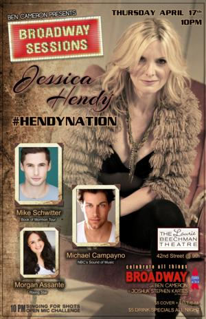 Broadway Sessions to Welcome Jessica Hendy & More, 4/17