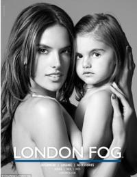 Alessandra Ambrosio Stars with Daughter in London Fog Ad