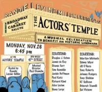 Tony Sheldon, KT Sullivan and More Set for Actors Temple Benefit, 11/26