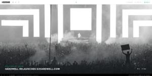 DJ HARDWELL Re-launches Website in an New Interactive Format
