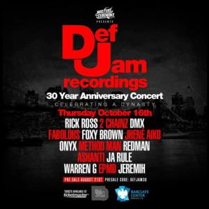 Def Jam 30th Anniversary Concert Tickets on Sale Today