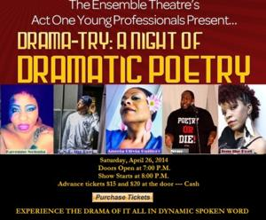 Ensemble Theatre's Act One Young Professionals to Present 3rd Annual DRAMA-TRY[TREE]: A DRAMATIC NIGHT OF POETRY, 4/26