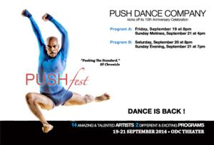 PUSH Dance Company Launches PUSHFEST, 9/19-21