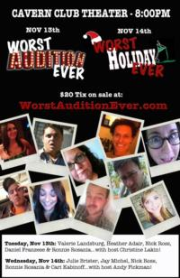 Heather Adair, Christine Lakin and More Join WORST AUDITION EVER Shows at Cavern Club in Silver Lake, 11/13 & 14