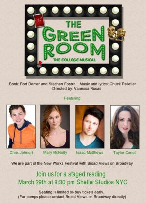 THE GREEN ROOM: THE COLLEGE MUSICAL Gets Staged Reading at Shelter Studios Today