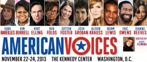 Kennedy Center's AMERICAN VOICES Festival with Sutton Foster, Norm Lewis & More to be Filmed for PBS' GREAT PERFORMANCES