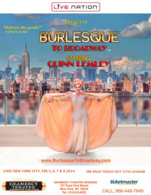 BURLESQUE TO BROADWAY, Starring Quinn Lemley, Makes NYC Debut Tonight