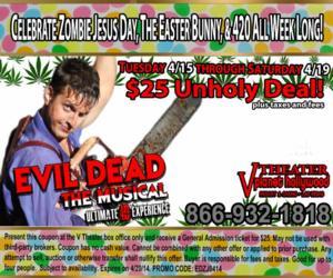 EVIL DEAD THE MUSICAL Creates Easter Egg Performances, Now thru 4/20
