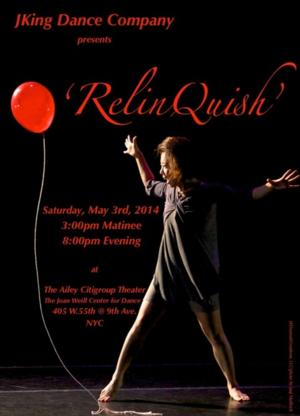 Brooklyn's JKing Dance Company to Present RELINQUISH at Ailey Citigroup Theater, 5/3