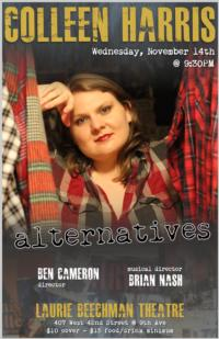 Colleen Harris' ALTERNATIVES Returns to the Laurie Beechman, 11/14