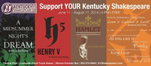 Kentucky Shakespeare Offers Free Outdoor Performances