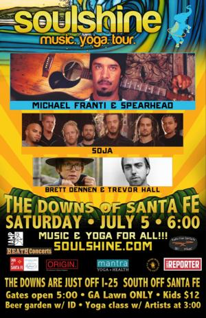 Music at The Downs to Debut with Michael Franti & Spearhead's Soulshine Tour, 7/5