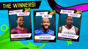Gabby Douglas, Kevin Durant Among Winners of 2014 KIDS CHOICE SPORTS AWARDS; Full List Announced!