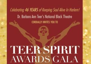 National Black Theatre's Spirit Awards Gala, Tonight, 6/18
