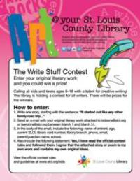 St. Louis County Library Hosts Writing Contest for Kids and Teens