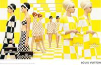 Louis Vuitton Uses Same Checkboard Theme for Spring Ads