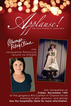 ALWAYS...PATSY CLINE Star Jacqueline Petroccia to Headline STAGES' 2013 Gala, 11/15