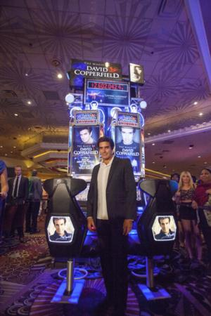 David Copperfield Unveils His Bally Technologies Slot Machine During Exclusive Celebration at MGM Grand