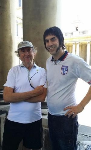 PHOTO: Eric Idle Shares First Look at Sacha Baron Cohen in New Comedy GRIMSBY