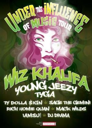 Wiz Khalifa and Young Jeezy Headline 3rd Annual 'Under the Influence of Music' 2014 Summer Tour, Beg. Today