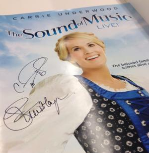 Enter to Win THE SOUND OF MUSIC Poster Signed by Carrie Underwood & Stephen Moyer