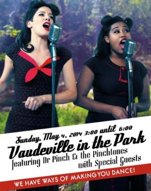 VAUDEVILLE IN THE PARK Set for The Old Zoo at Griffith Park, 5/4
