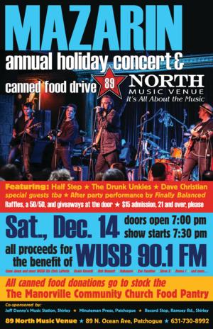 Mazarin to Headline WUSB Fundraiser, 12/14