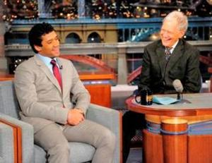 Seattle Quarterback Russell Wilson Visits DAVID LETTERMAN
