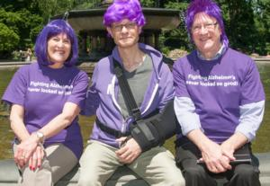 DYEING TO END ALZHEIMER'S ... PURPLE NEVER LOOKED SO GOOD New York Initiative